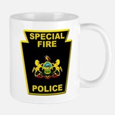 Fire police badge Mugs