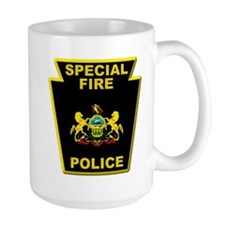 Fire police badge Mugs