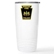 Fire police badge Travel Coffee Mug
