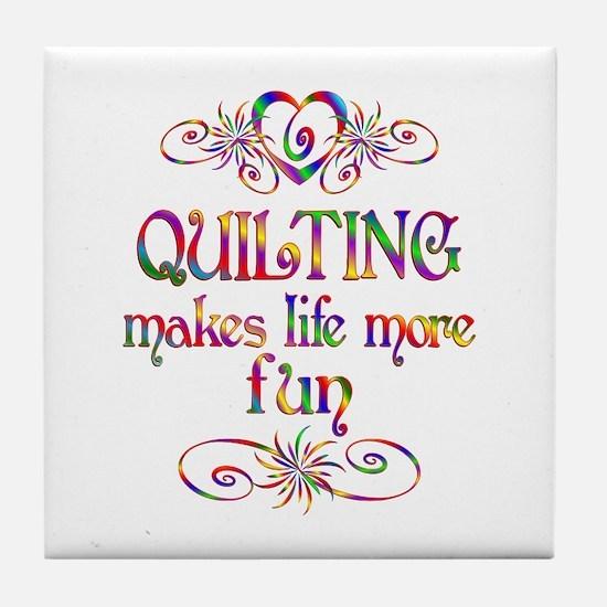 Quilting More Fun Tile Coaster
