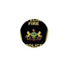 Fire police badge Mini Button (100 pack)
