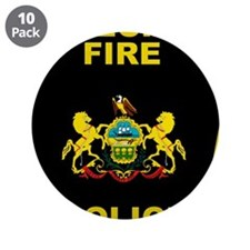 """Fire police badge 3.5"""" Button (10 pack)"""