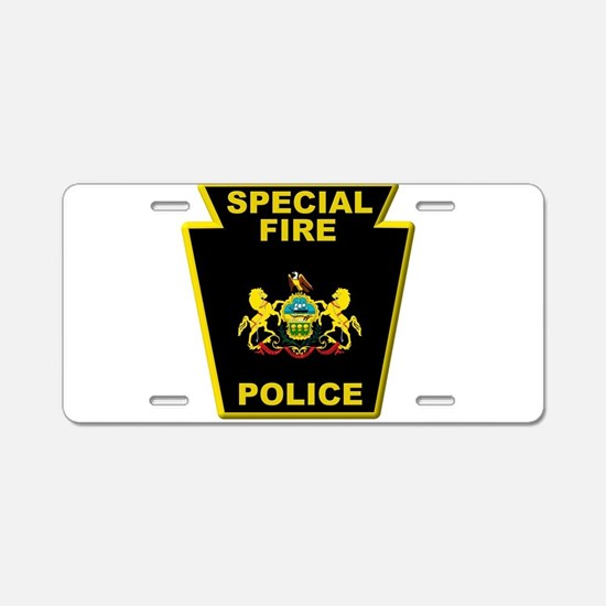 Fire police badge Aluminum License Plate