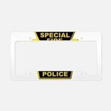 Fire police badge License Plate Holder