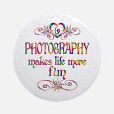 Photography More Fun Ornament (Round)