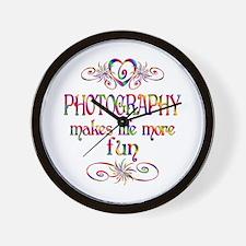 Photography More Fun Wall Clock