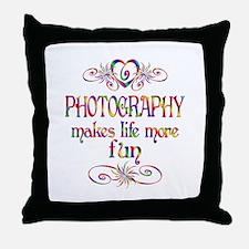 Photography More Fun Throw Pillow