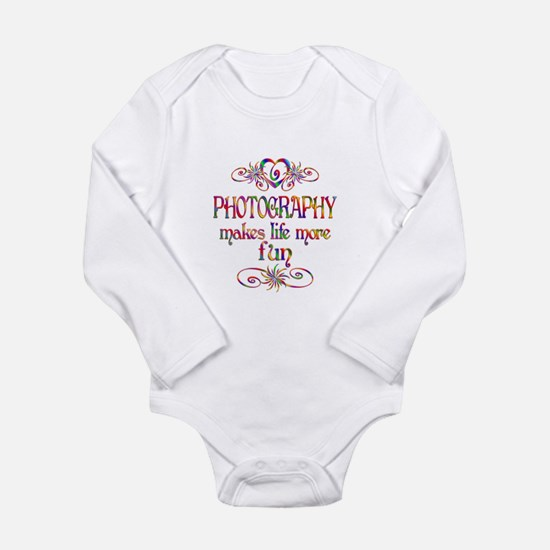 Photography More Fun Long Sleeve Infant Bodysuit