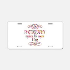 Photography More Fun Aluminum License Plate