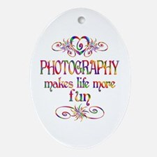 Photography More Fun Ornament (Oval)