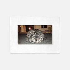 Muffin Sleeping dog 2 5'x7'Area Rug