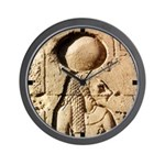 Ancient Egyptian Bastet Hieroglyphic Wall Clock