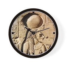 Ancient Egyptian Bastet Hieroglyphic Wall Clock
