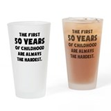 50th birthday quotes Pint Glasses
