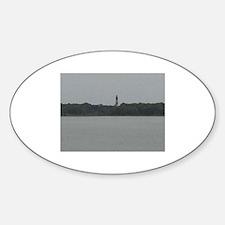 Asateague lighthouse distant shot Decal