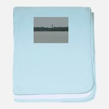 Asateague lighthouse distant shot baby blanket