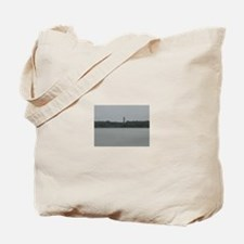 Asateague lighthouse distant shot Tote Bag