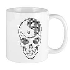 Ying Yang Skull Graphic Art Mugs
