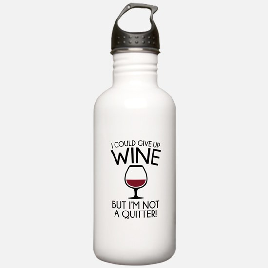 I Could Give Up Wine Water Bottle