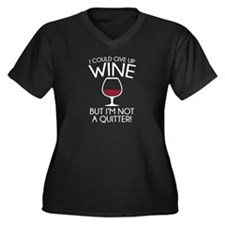 I Could Give Up Wine Women's Plus Size V-Neck Dark
