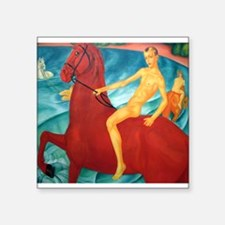 Petrov-Vodkin Bathing Red Horse Russian Pa Sticker