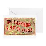 Flat Kansas Greeting Card