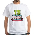 13 Year Old Birthday Cake White T-Shirt
