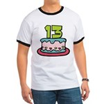 13 Year Old Birthday Cake Ringer T