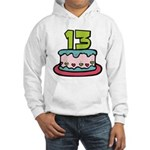 13 Year Old Birthday Cake Hooded Sweatshirt