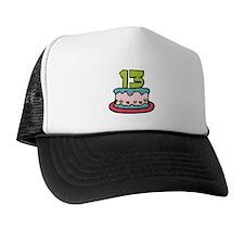 13 Year Old Birthday Cake Trucker Hat