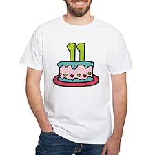 11 Year Old Birthday Cake Shirt