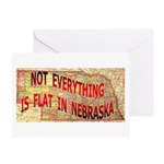 Flat Nebraska Greeting Card