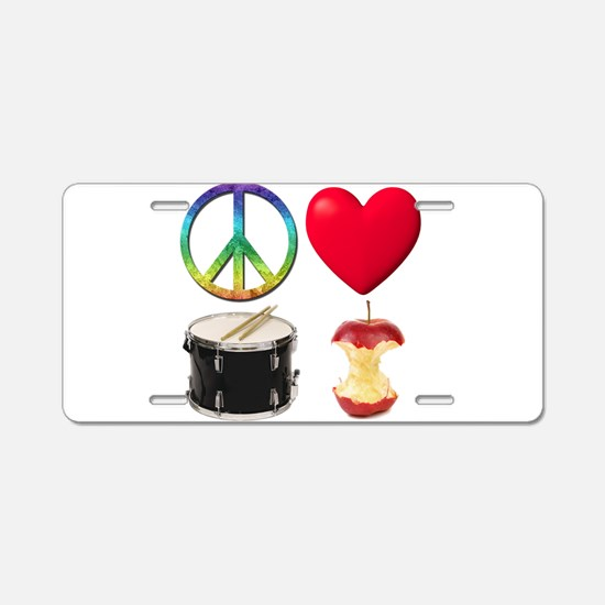 Peace Love Drum Corps Aluminum License Plate