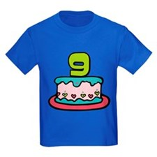 9 Year Old Birthday Cake T