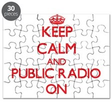 Keep Calm and Public Radio ON Puzzle