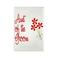 Bouquet Groom's Aunt Rectangle Magnet