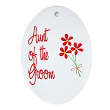 Bouquet Groom's Aunt Oval Ornament