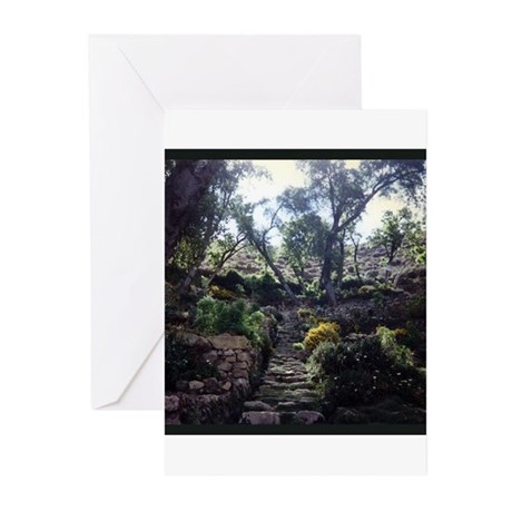 INCA STAIRCASE Greeting Cards (Pk of 10)