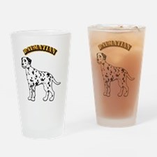 Dalmatian - With Text Drinking Glass