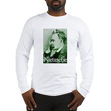 Green Nietzsche Long Sleeve T-Shirt