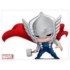 Thor Stylized Wall Art Poster