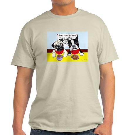 Light T-Shirt Pug at the Diner