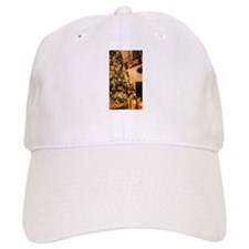 Christmas decor scene golden 2 Baseball Cap