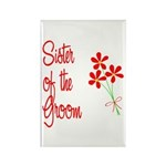 Bouquet Groom's Sister Rectangle Magnet (10 pack)