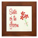 Bouquet Groom's Sister Framed Tile