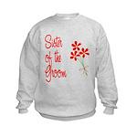 Bouquet Groom's Sister Kids Sweatshirt