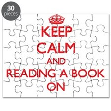 Keep Calm and Reading A Book ON Puzzle