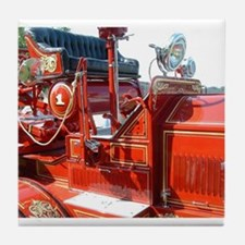 Red fire truck seat shot 3 Tile Coaster