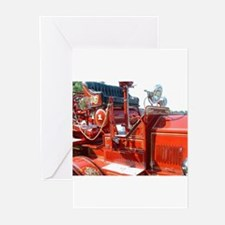 Red fire truck seat shot 3 Greeting Cards