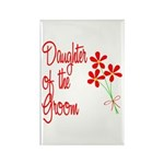 Bouquet Groom's Daughter Rectangle Magnet (100 pac